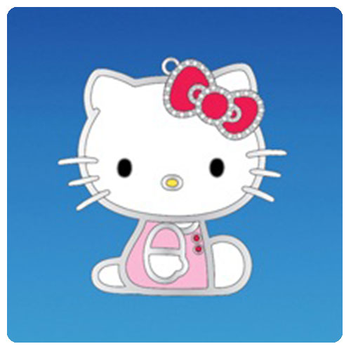 Hello Kitty Silver Plated 3-Inch Ornament