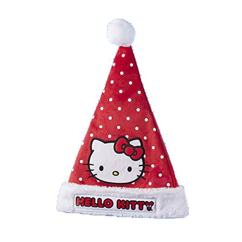 Hello Kitty Polka Dot Santa Hat