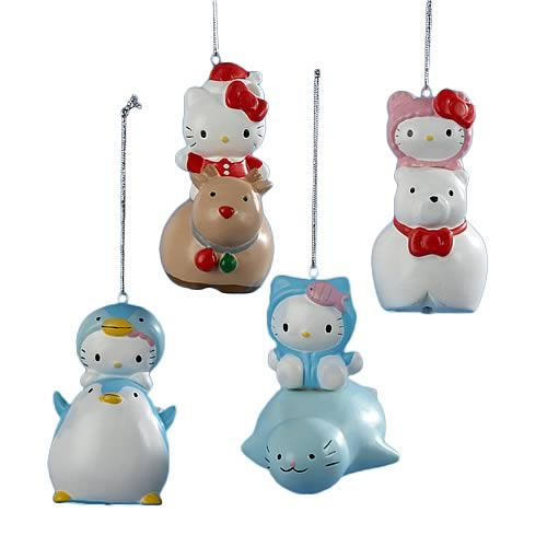 Hello Kitty Porcelain Bell Ornaments