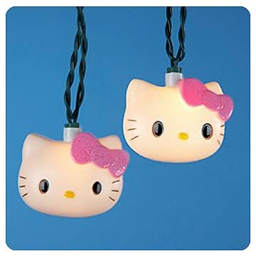 Hello Kitty Head Sculpt Blow Mold Christmas Lights