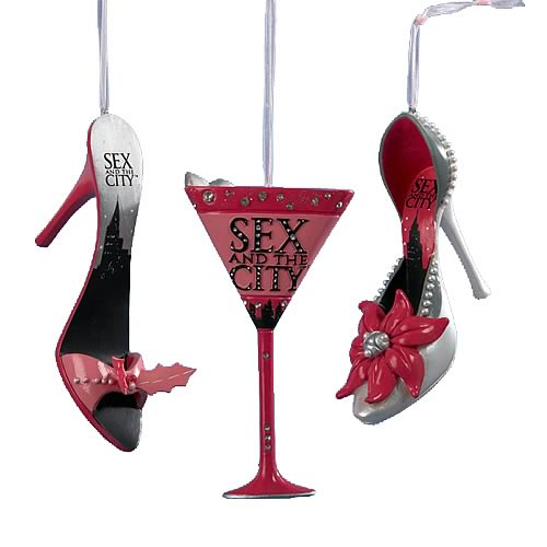 Sex and the City Shoe and Martini Glass Ornaments