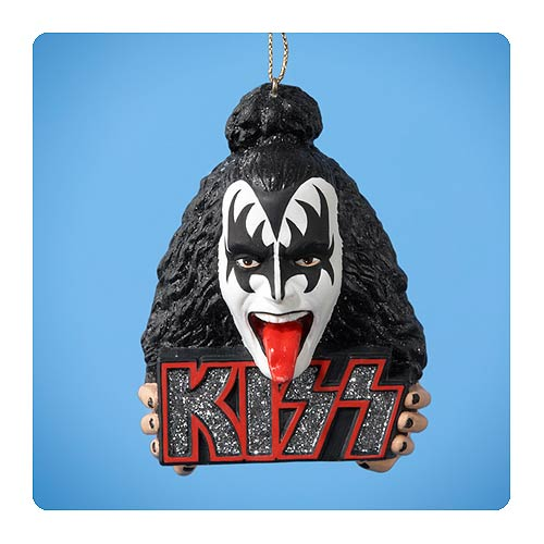 KISS Logo and Gene Simons Demon Bust Ornament