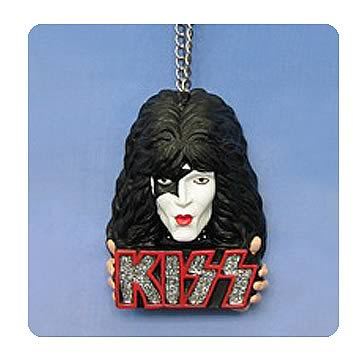 KISS Logo and Paul Stanley Star Child Bust Ornament