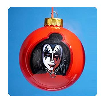 KISS Gene Simmons Demon Inside Painted Ball Ornament