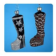 KISS 5-Inch Glass Boot Ornament Case