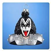 KISS Gene Simmons Demon Bust Glass Ornament