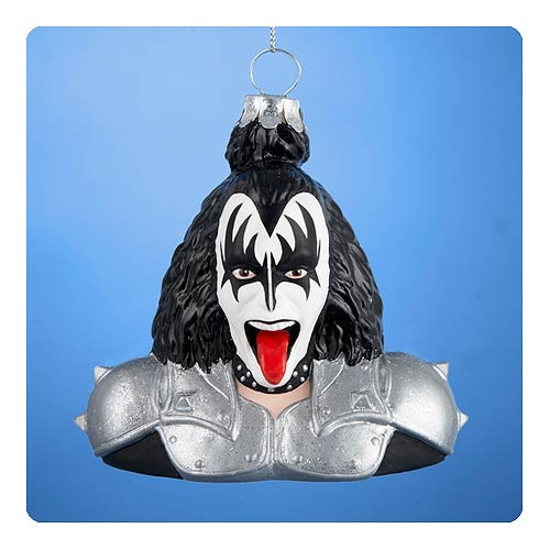 KISS Gene Simmons Demon Bust Glass Ornament