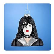 KISS Paul Stanley Star Child Bust Glass Ornament