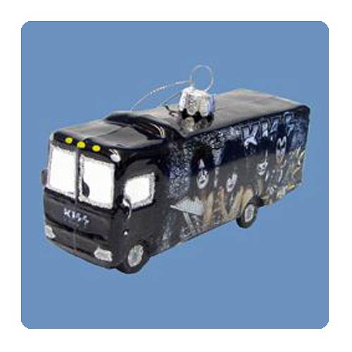 KISS Tour Bus Glass Ornament