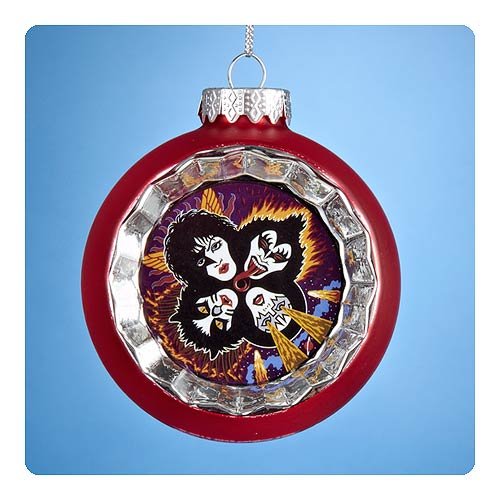 KISS Reflector Red Glass Ball Ornament