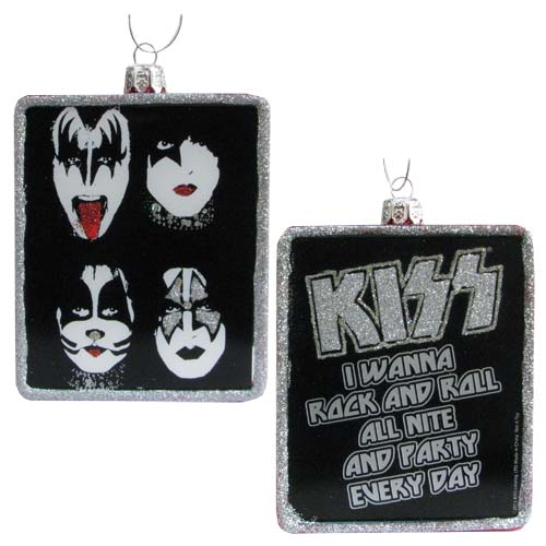 KISS Poster Glass 4 1/4-Inch Ornament