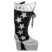 KISS 19-Inch Paul Stanley Star Child Boot Applique Stocking