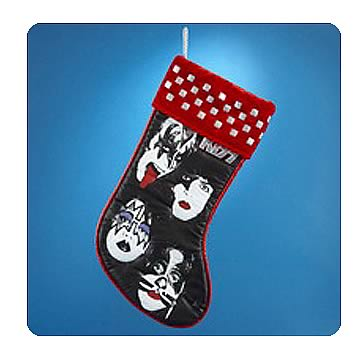 KISS 19-Inch Band Member Faces with Red Cuff Stocking