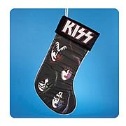 KISS 19-Inch Band Member Faces with Black Cuff Stocking