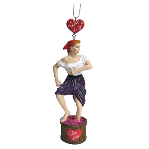I Love Lucy Grape Stomping Resin Ornament