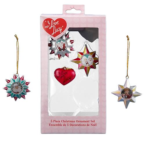 I Love Lucy Resin Mini Ornaments Boxed Set