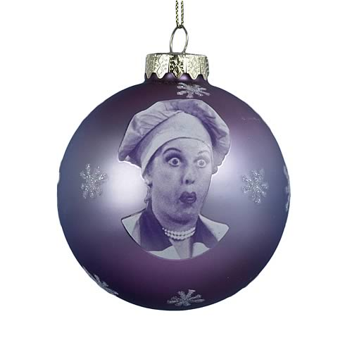 I Love Lucy Glass Ornament