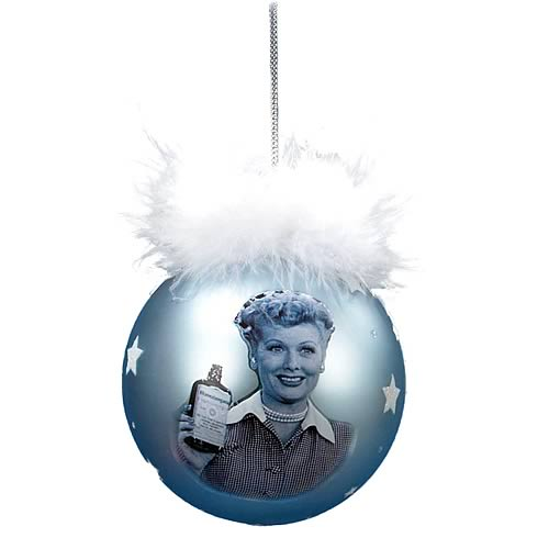 I Love Lucy Blue Glass Ball Ornament