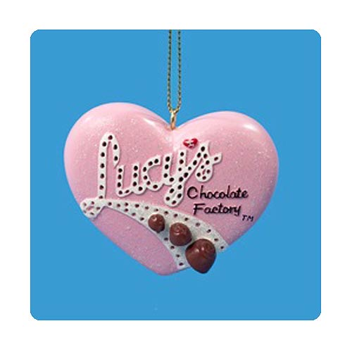 I Love Lucy Flashing Heart Light-Up Resin Ornament