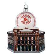 MLB Red Sox Logo Fenway Park with Ball Ornament