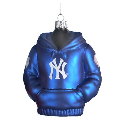 MLB Yankees 4 1/2-Inch Hoodie Sweatshirt Glass Ornament
