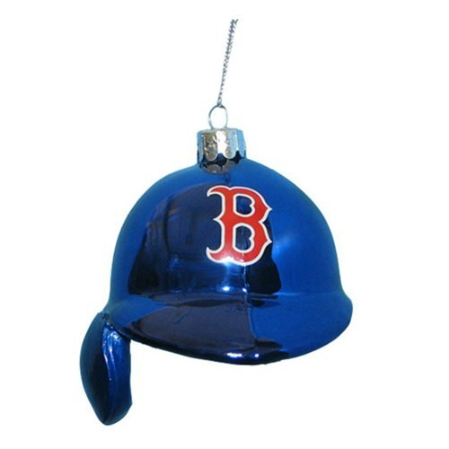 MLB Red Sox 5-Inch Batting Helmet Glass Ornament