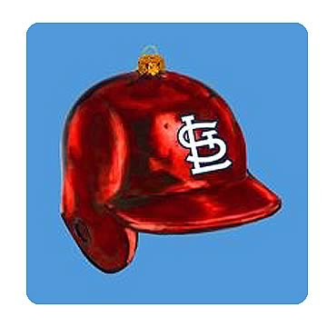 MLB Cardinals 5-Inch Batting Helmet Glass Ornament