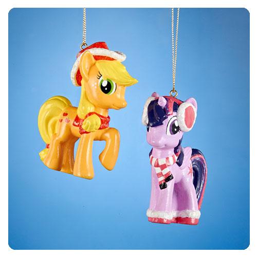 MLP Applejack and Twilight Sparkle Ornament Set