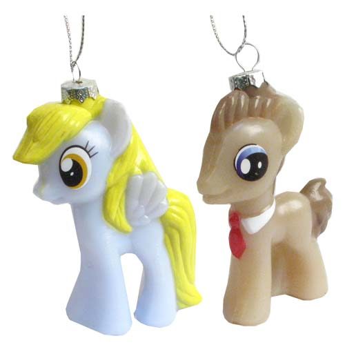 MLP Dr. Hooves and Derpy Injection Mold Ornament Set