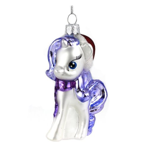 My Little Pony Rarity Glass Christmas Ornament
