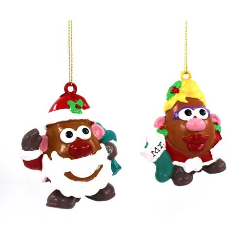 Mr. Potato Head Mr. and Mrs. Blow Mold Ornament Set