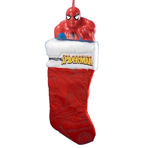 Spider-Man Plastic Head Stocking