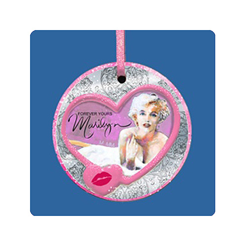Marilyn Monroe 3-Inch Porcelain Holiday Ornament