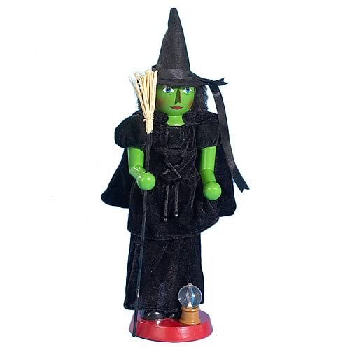 Wizard of Oz Wicked Witch 15-Inch Wooden Nutcracker