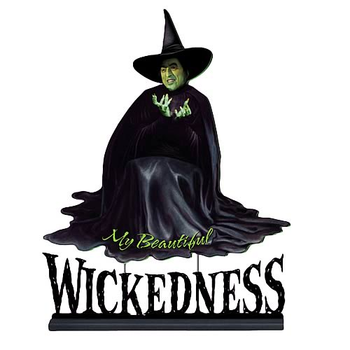 Wizard of Oz Wicked Witch 18 1/2-Inch Wooden Statue