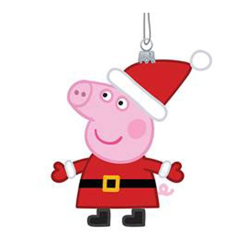 Peppa Pig 4 3/4-Inch Glass Ornament