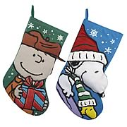 Peanuts 19-Inch Printed Applique Stocking Case