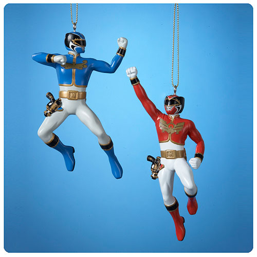 Power Rangers Red and Blue Ranger Ornament PIECE