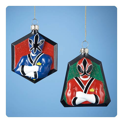 Power Rangers 4 1/2-Inch Glass Ornament Case