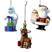 Rudolph the Red Nosed Reindeer Blow Mold Ornaments Set
