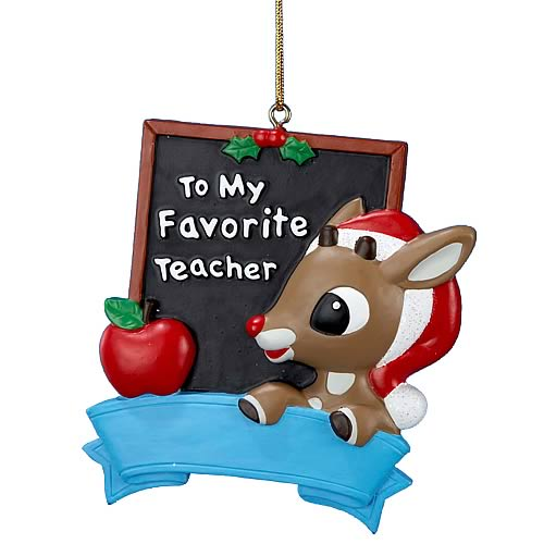Rudolph the Red Nosed Reindeer Teacher 3 1/2-Inch Ornament