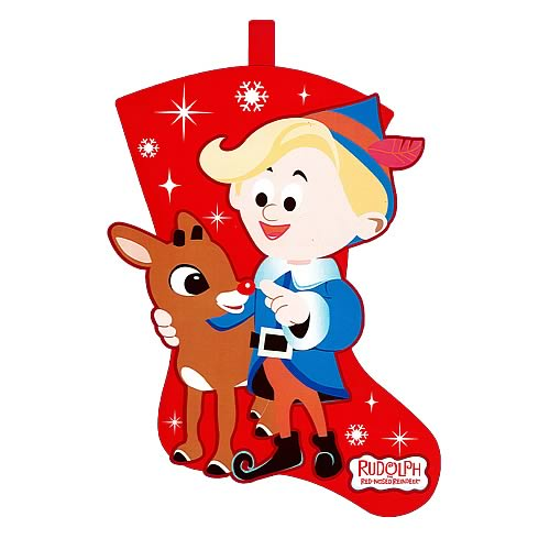 Rudolph the Red Nosed Reindeer and Hermey Felt Stocking