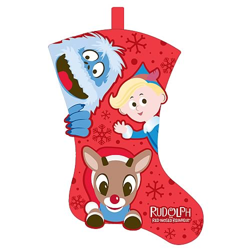 Rudolph the Red Nosed Reindeer Full Body Felt Stocking