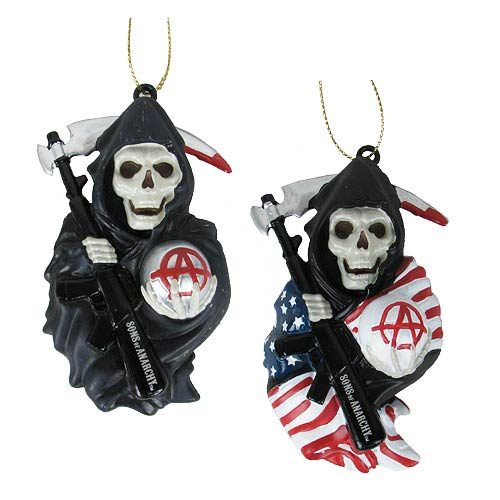 Sons of Anarchy Grim Reaper Blow Mold Ornament Set