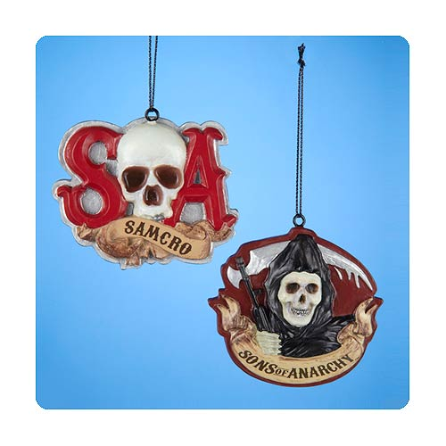 Sons of Anarchy Resin SAMCRO Ornament Set
