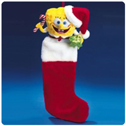 SpongeBob SquarePants Plush Head Christmas Stocking