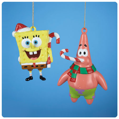SpongeBob SquarePants Blow Mold 4-Inch Ornament Set