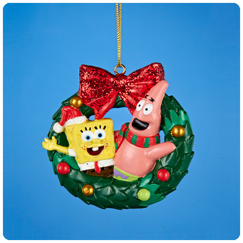 SpongeBob SquarePants Resin Christmas Wreath Ornament