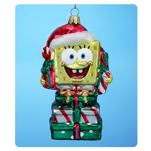 SpongeBob SquarePants SpongeBob with Presents Glass Ornament