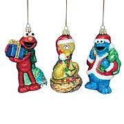 Sesame Street 5-Inch Glass Ornaments Set